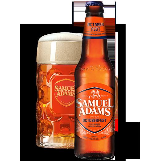 Samuel Adams Octoberfest beer.